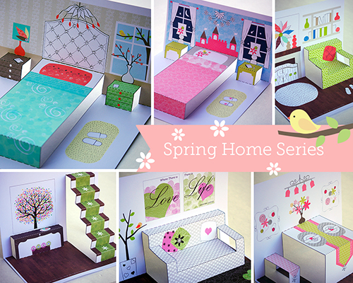 paper doll house spring series